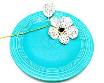 Turquoise Fiestaware 10 Inch Dinner Plate -- Vintage Genuine Fiesta HLC