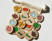 Memory Game, The Great Outdoors, Nature, Waldorf toy, Game, Stocking Stuffer