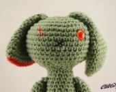 ZomBunny Redeaux - Zombie Bunny Rabbit Amigurumi Plush