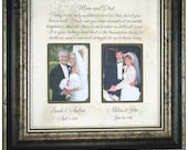 Parent wedding gift, Parent thank you Gift, Parent wedding gift frame, Parent gift ,Today is a Celebration, 16x16