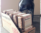 Beer Soap - Black H2O Oatmeal Stout Beer Soap, Minneapolis Town Hall Beer Soap, Father's Day, Men's Soap