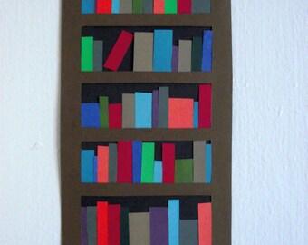 """Cut Paper Bookcase, 8 1/2"""" x 4"""""""