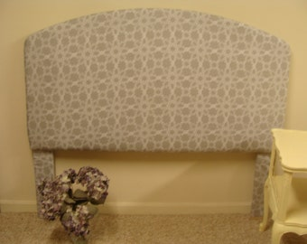 Gray and White Upholstered Headboard