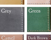 Artemis Leatherware Leather Color Sample Card