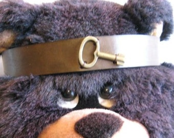 Brown Headband Key Leather Headband SCA Fantasy Headband Medieval Crown Barbarian Headband