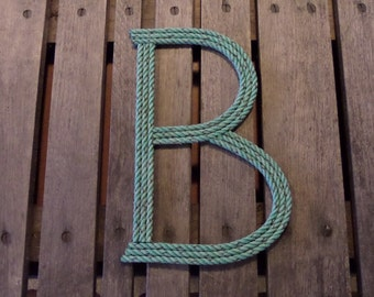 Rope Letters 12 Inch Nautical Nursery Decor Spell Your Childs Name Wall Art Text Alphabet