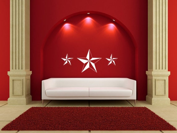 Nautical Stars Vinyl Decal Wall Art Mural