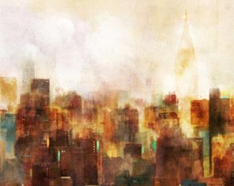 Sunset City 02: Giclee Fine Art Print 13X19
