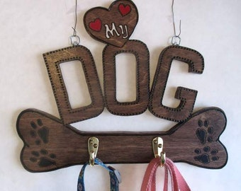 Leash and Collar Hanger for your Favorite Dog