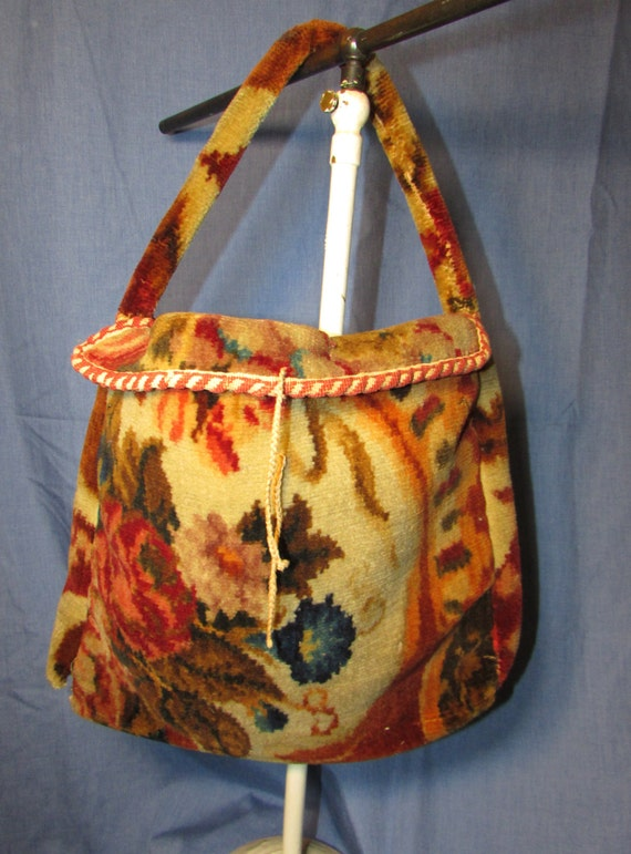 Items Similar To Victorian Era Carpet Bag 1860 S 70 S On Etsy