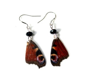 Io Butterfly Earrings, European Peacock Earrings, Real Butterfly Wing Earrings, Butterfly Jewelry