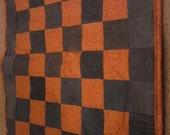 Denim Cotton Throw Orange