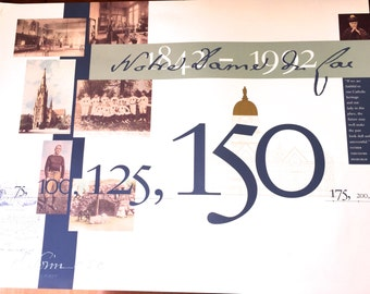 Notre Dame 150th Anniversary Poster Print