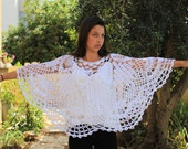 White shawl Wedding Poncho wedding shawl Bridal shawl crochet shawl wedding wrap bridal accessories wedding shawls Crochet Shawl