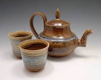 It's Cold Out There - English Style Teapot and Cups