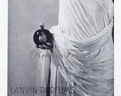 Original Vintage French Print Ad -  Lanvin Parfum 1932