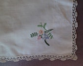 reserved for Carolina, ANTIQUE TRAY CLOTH, table runner,  Portuguese vintage, 1950s, pure cotton, linen