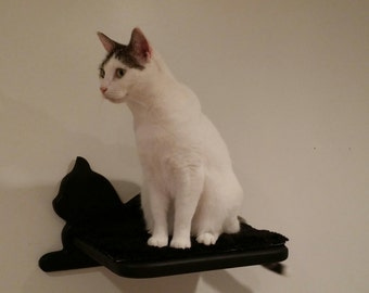 Gorgeous, comfy and sturdy, easy to install cat shelf for ...