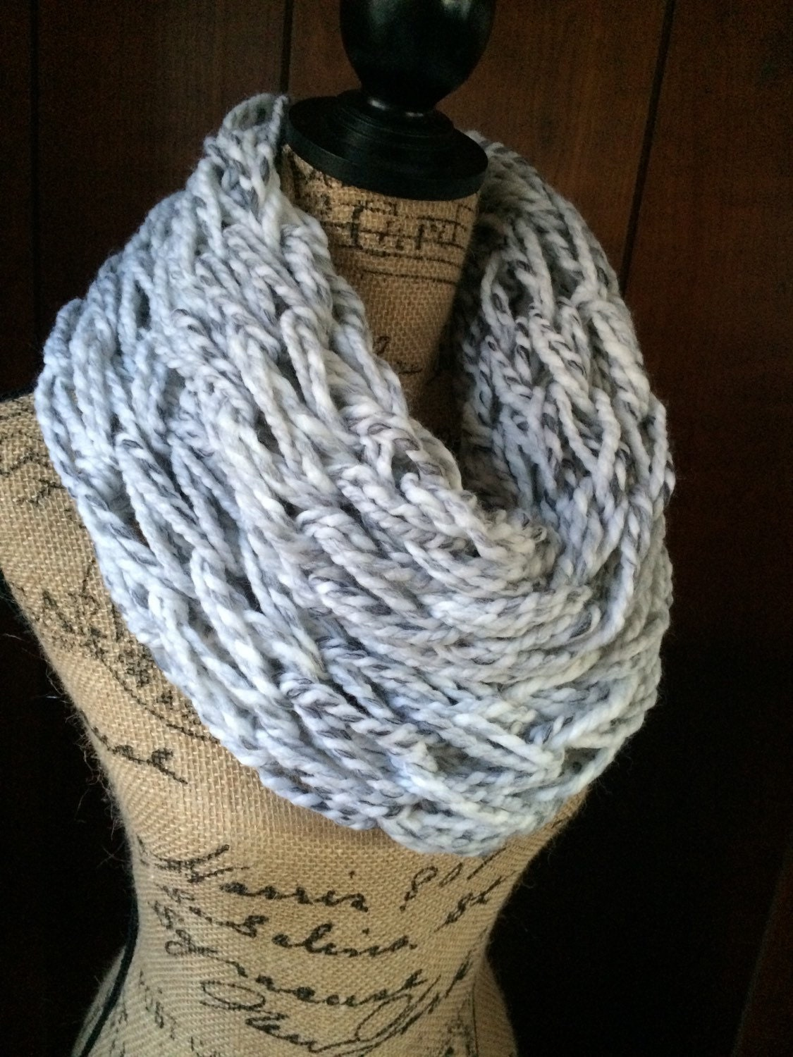 chunky arm knitted infinity scarf chunky cowl arm knit