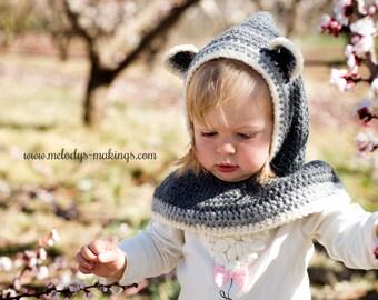Crochet Pattern - Hooded Scarf Crochet Pattern - Cowl Crochet Pattern - Crochet Hood Pattern - Cowl Pattern - Hooded Scarf Pattern