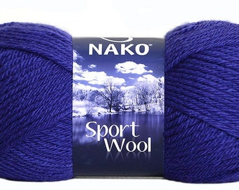 Nako Knitting Yarn Nako sport wool Indigo knitting yarn knitting materials knitting wool uk scarf knitting yarn turkish yarn on sale