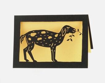 Goat laser cut card