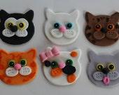 12 fondant cupcake toppers--cat, kitty, kitten 2.0