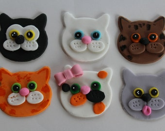 12 fondant cupcake toppers--cat, kitty, kitten 2.0