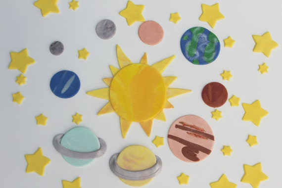 planets cake toppers-#46