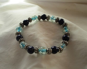 Stretchy Blues Bracelet
