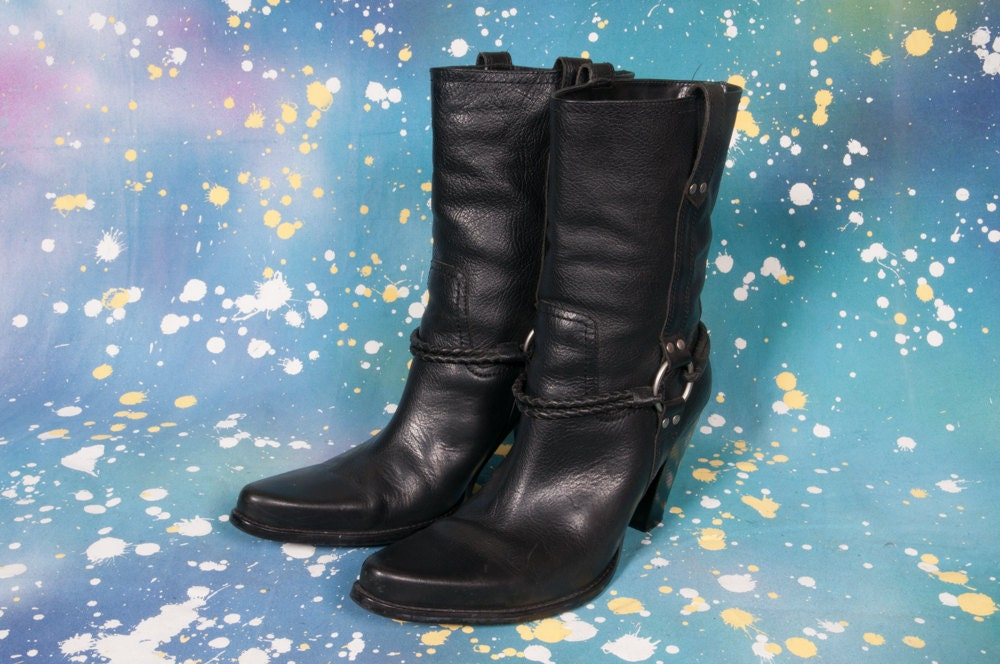 bakers high heel motorcycle boots womens size 9