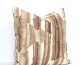 Beige Ombre Decorative Throw Pillow Cover Abstract Euro Sham 26x26 24x24 22x22 20x20 18x18 16x16