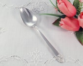 Rogers DeLuxe Plate Precious Pattern Silver Plate Tablespoon