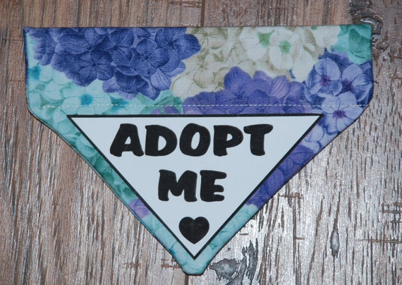 Items similar to Over the Collar Adopt Me dog Bandana ...