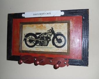 Motor Bike Man Cave Three Hocks Wall Fixture