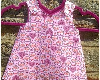 Reversible dress 3/6 months