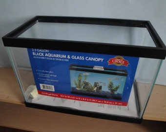 2.5 G Glass Aquarium with Glass Canopy