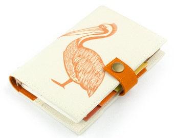 Pelican, weekly planner, Personal Planner, Personal organizer, student, 2017 calendar, agenda, monthly planner, daily, notebook, handmade
