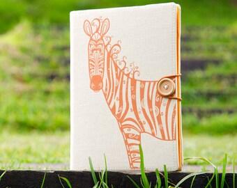 Zebra / iPad mini case, Kindle case, iPad mini cover, kindle cover, Kindle paperwhite case, voyage, Kobo, arc, handmade, case, cover, folio