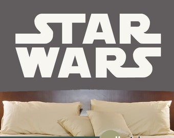 Star Wars Wall Decal - Bedroom Wall Decor - Vinyl Wall Art Decal - Kids Decor - Choose Your Color - WD0386
