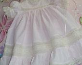 RESERVED LISTING:  Handmade Girl's Heirloom Dress and Slip
