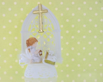 First Communion Girl Cake Topper / Decoration