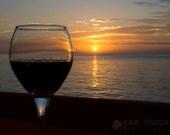 Wine at Sunset 11x14 Fine Art Print