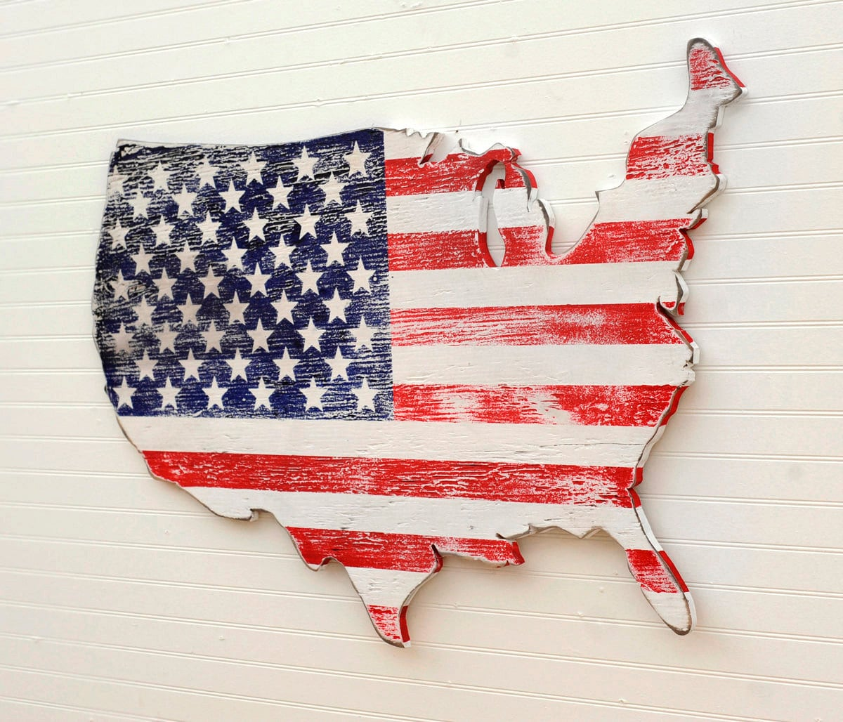 USA Wooden Flag Map Art Large US Map Art Wooden Stars And - Us flag and map