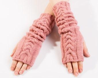 sale!!!Hand knit long wool mittens