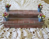 Doll House Miniature Decorated Bricked Front Steps