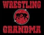 Women's Glitter and Rhinestone Wrestling Grandma Shirt