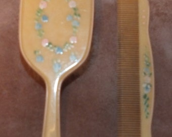 Comb And Brush Set Etsy