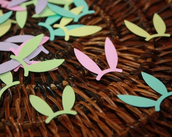 200 Ear Bunny Confetti / Customize on any color choice / Scrapbooking / Embellishments/Paper Punch