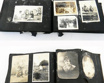 Antique Photograph Album Late 1800s 160 Original Photographs